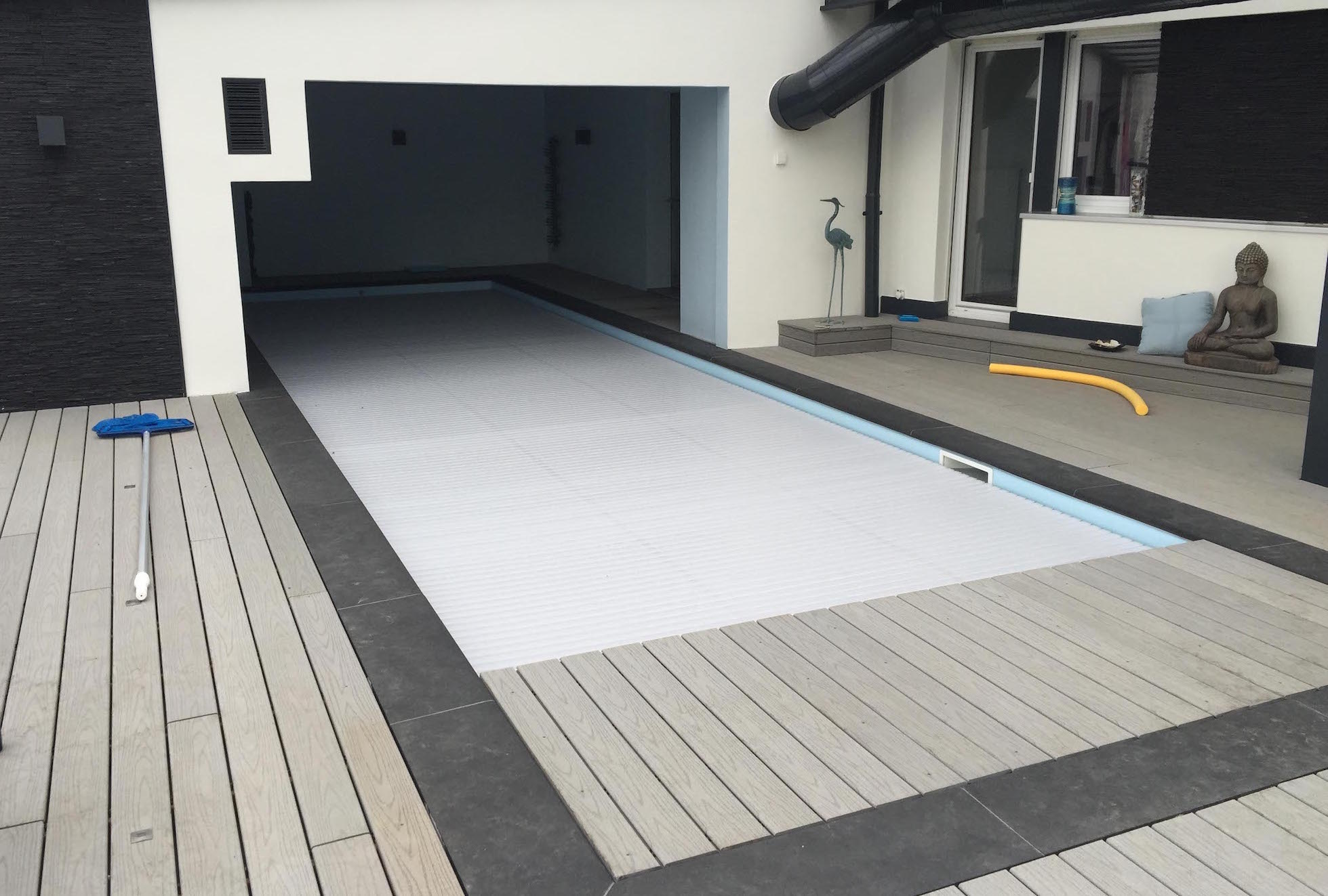 Entourage Piscine complet finition anthracite