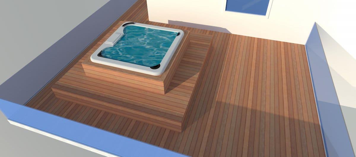 rendu 3D habillage Spa complet sur garage à Bulle Mathieu Blanc copy